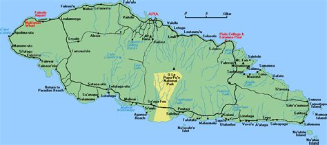 samoa map world map of islands