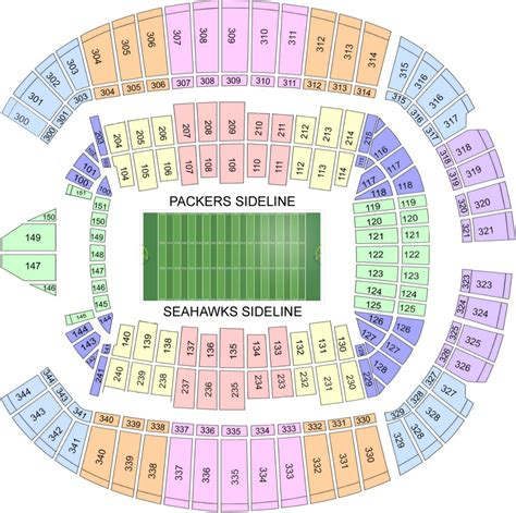 green bay packers seating chart event usa packers tickets and packages seattle
