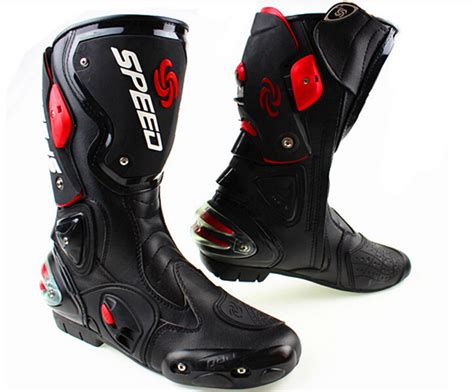 leather dirt bike boots free shipping 2015 new fashion leather motorcycle boots
