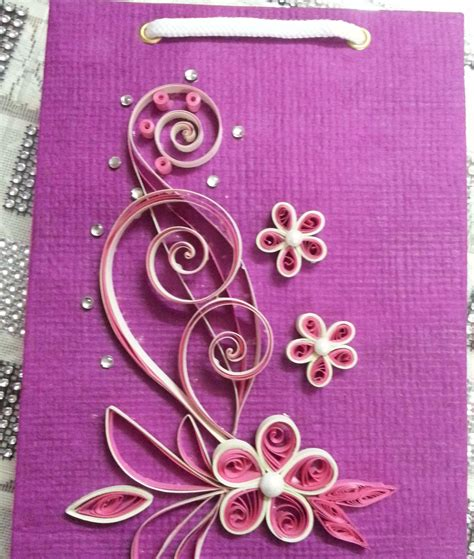 Handmade Paper Designs - handmade quilled gift bags paper quilling shopping
