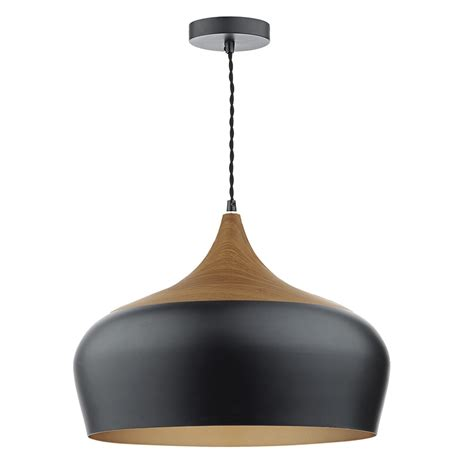 Large Pendant Light Gaucho 1 Light Pendant Black Large