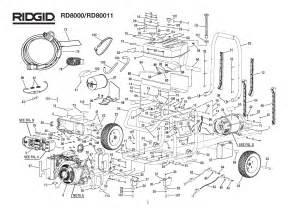 ridgid rd8000 rd80011 parts master tool repair