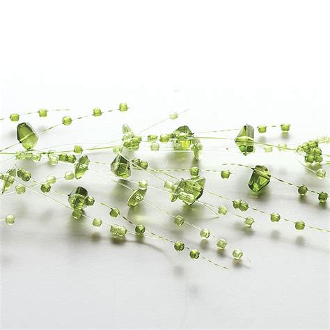 beaded garland for candles green beaded garland decorative beaded candle garlands