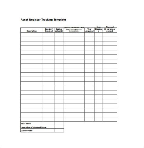 fixed asset register excel template fixed asset register excel template pacq co