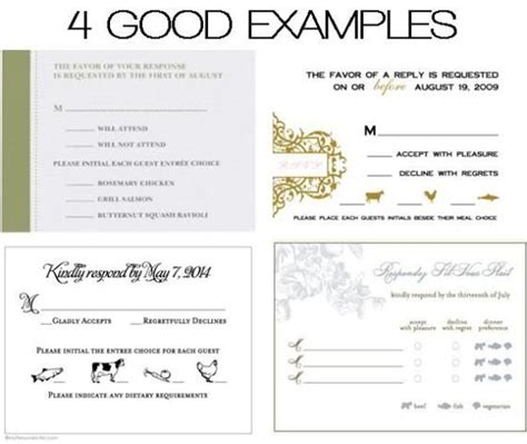 wedding menu choice cards template dos donts place cards meal choices response cards