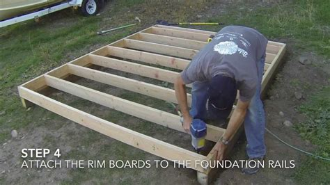build  shed part  floor framing youtube