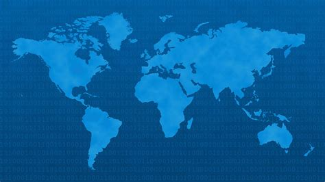 vector world map free world map free stock photo blue world map with binary