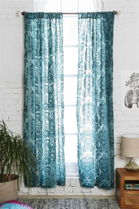 damask velvet burnout curtain damask velvet burnout curtain urban outfitters