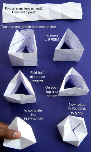 Origami Hexaflexagon - flexagon math origami and craft