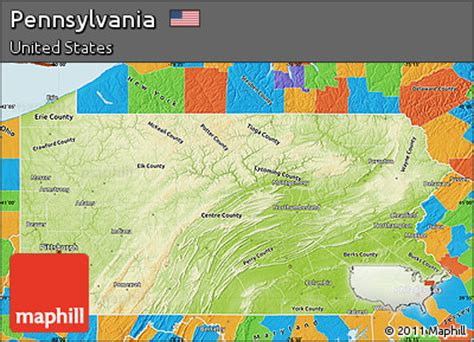 pennsylvania physical map free physical map of pennsylvania political outside