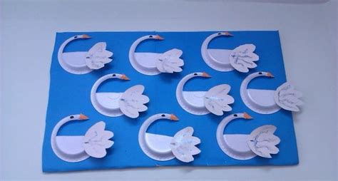 Swan Paper Craft - crafts actvities and worksheets for preschool toddler and