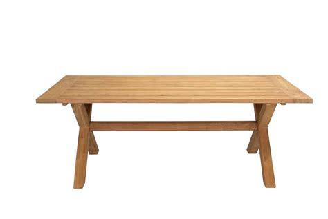 Front Table Teak Cross Leg Table Daydream Leisure Furniture