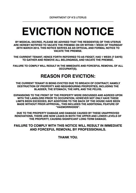 Eviction Notice Resume Template Sle 30 Day Eviction Notice Template Nc