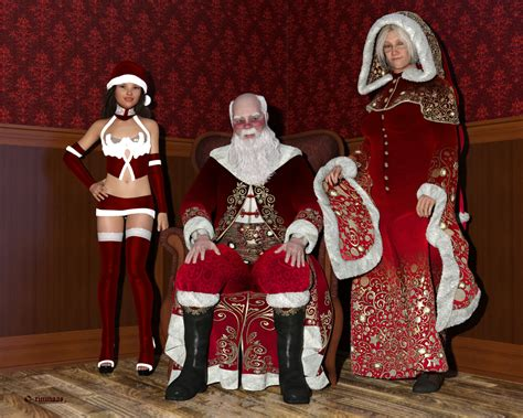 santa mrs claus and santa s personal elf by timnaas on