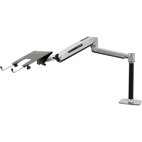 laptop desk mount arm ergotron lx sit stand laptop desk mount arm