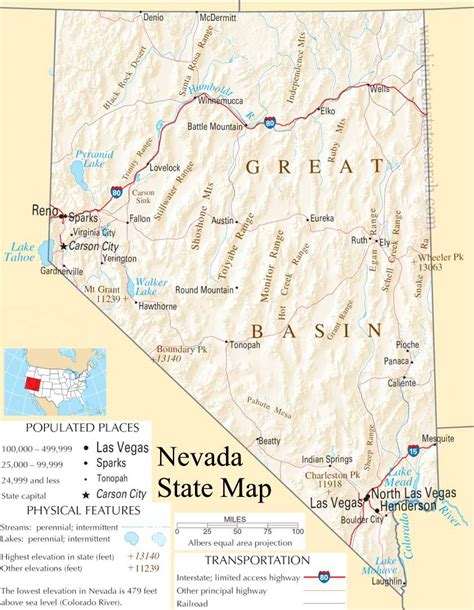 detailed map of nevada usa nevada usa map afputra