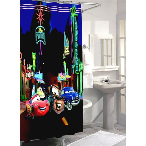 car shower curtain disney cars shower curtain