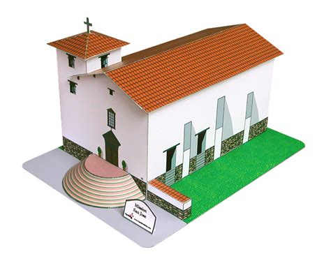 Spanish Mission Floor Plan by Mission San Jose Paper Models Inc