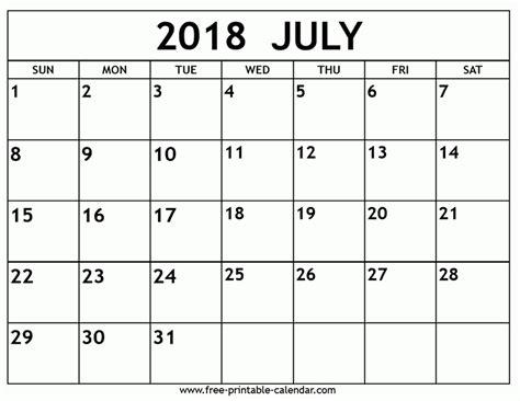 printable calendar july 2018 july 2018 calendar printable mathmarkstrainones com