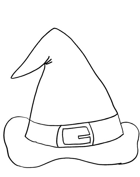 Free Witches Hat Coloring Pages Witch Hat Coloring Page