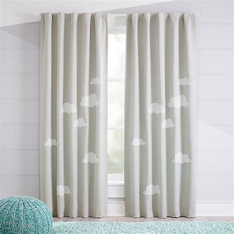 nursery curtains blackout cloud blackout curtains crate and barrel