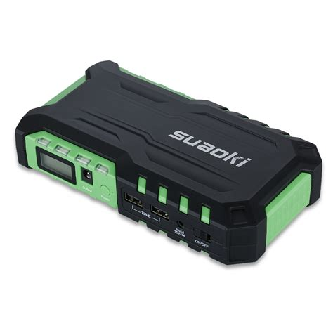 battery boosters chargers air compressor jump starter mini car 18000mah emergency