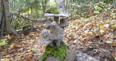 Cement Garden by Hypertufa Toadstools Cement Garden Hometalk