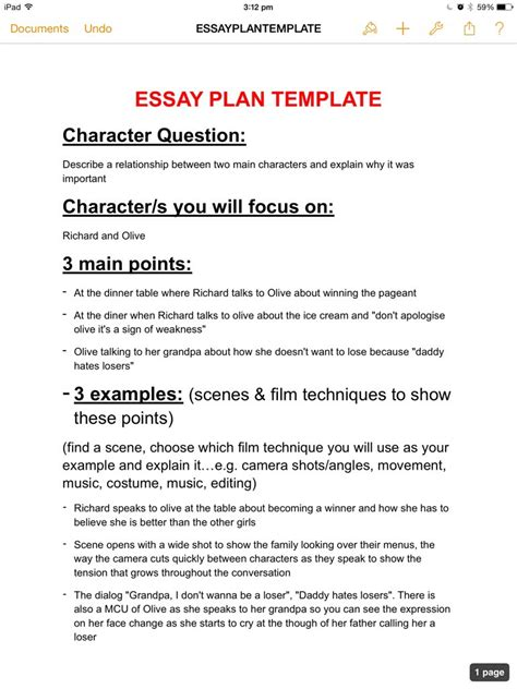 Thesis Plan Template essay plan template jasmingoss