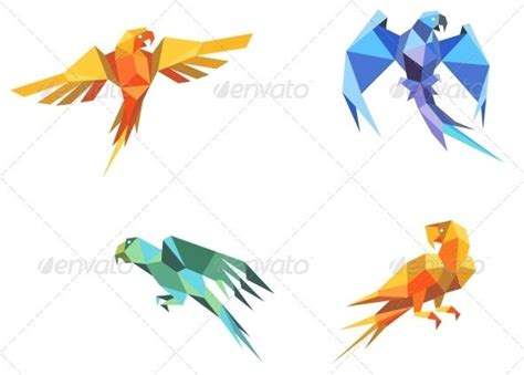 Origami Macaw Parrot - 17 best images about parrots chameleons lizards on
