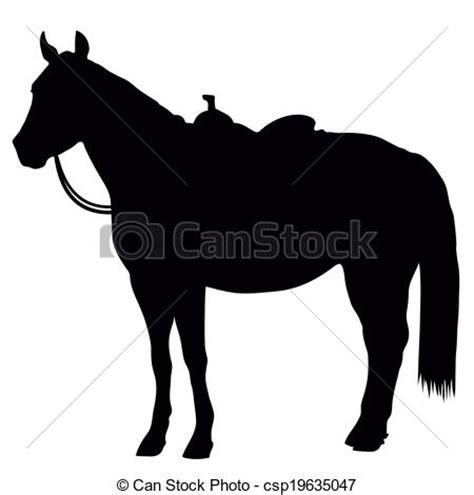 cavallo clipart cavallo silhouette occidentale standing il portare