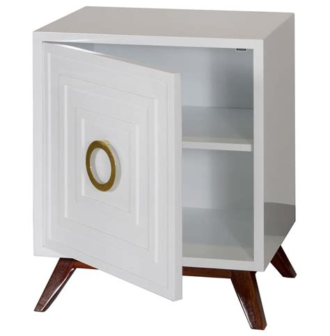Brass Nightstand harrison regency white lacquer brass nightstand kathy kuo home