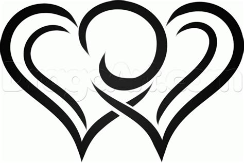 tribal pattern heart how to draw tribal hearts step by step tribal art pop