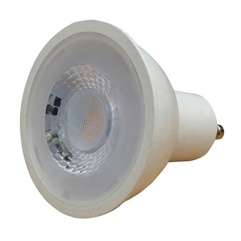 save light halo cob 7w warm white dimmable gu10 led spotlight at uk electrical supplies