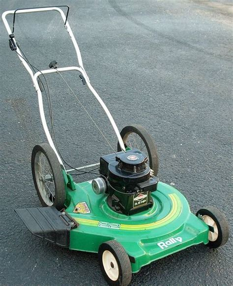 big mowers rally big wheel push lawn mower