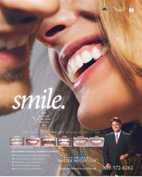 magazine ads elite smiles dentistry draper utah