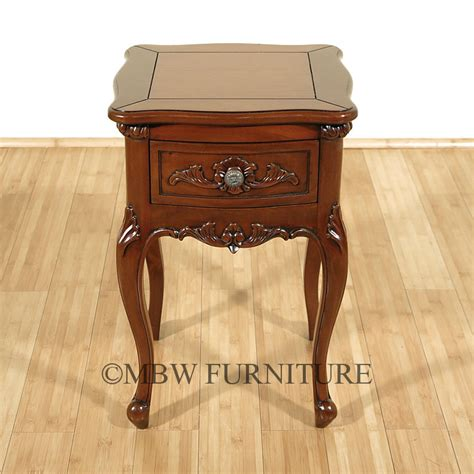 Small Nightstand Table Solid Mahogany Small 1 Drawer Nightstand Side Table Ebay