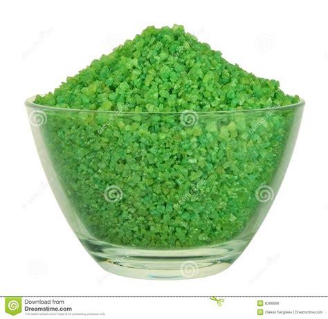 Green Salt L by Sel De Bain Vert Photos Libres De Droits Image 8266688