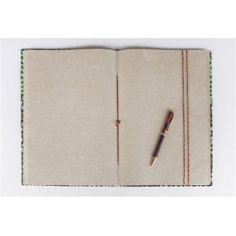 a4 patterned notebook a4 fabric notebook by verry kerry notonthehighstreet com