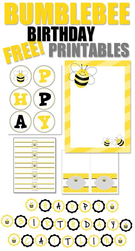 Bumblebee Birthday Party With Free Printables How To Nest For Less Bumble Bee Invitation Template Free