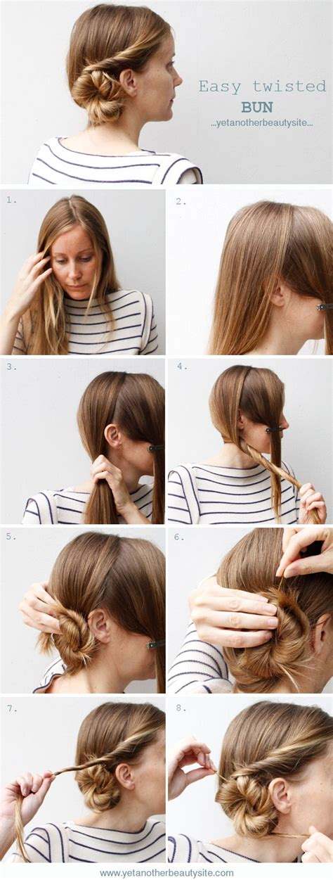 diy hairstyles side bun cute and easy side twisted bun diy hairstyle alldaychic