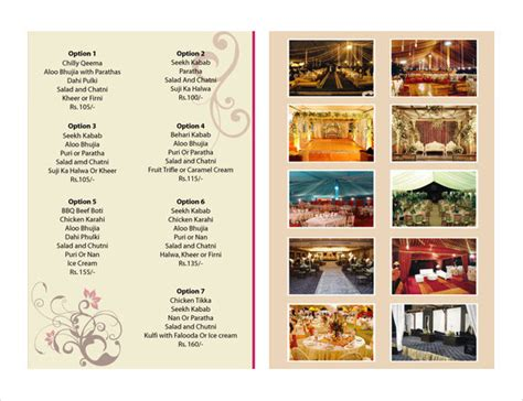 free catering menu templates catering menu template flyer free templates resume