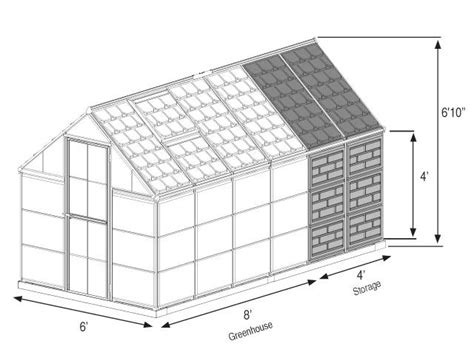 greenhouse layout electronic city grow and store 6x12 greenhouse with storage shed hg5112