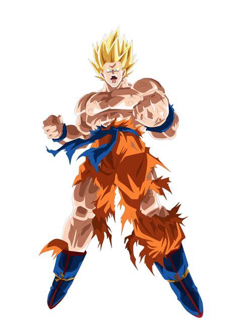 Pajangan Goku Saiyan 2 goku ssj namek by andrewdragonball on deviantart