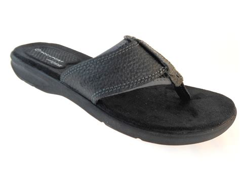 rockport sandals mens rockport jeffman v73200 black sandals s size 8