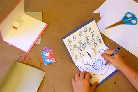 make a card how to make pop up cards tinkerlab