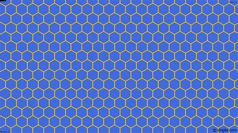 blue and gold l wallpaper yellow hexagon beehive honeycomb blue 4169e1