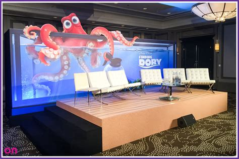 Degeneres Stage Floor by Walt Disney S Finding Dory Press Conference On Event