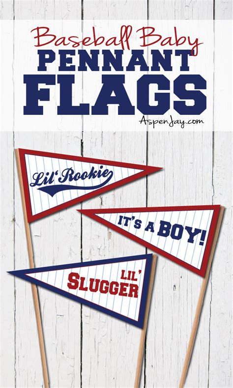 Baby Shower Flag Banner by Baseball Baby Pennant Flags Aspen