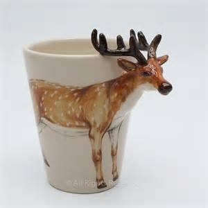 animal mug animal collectible mug hand painted antelope hand sculpted art madamepomm earth friendly on