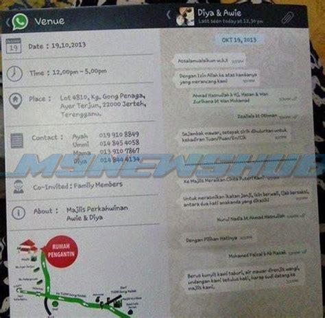 buat tulisan kreatif online kad kahwin ilham dari whatsapp yang kreatif lagi comel